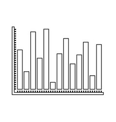 Monochrome silhouette of statistical graphs bars vector