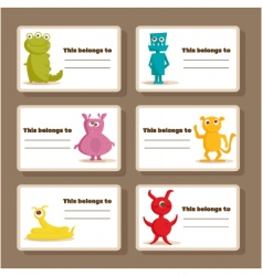 Monster tags vector