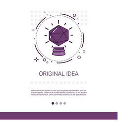 New creative original idea innovation banner with vector