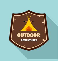 Outdoor new adventures logo flat style vector