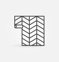 paperhangings or wallpaper concept line vector image