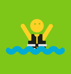 People wearing reflective life jacket man vector