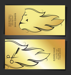 profile a beautiful girl with golden hairstyle vector image