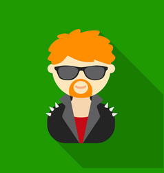 Rock star flat icon for web and vector