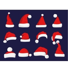 Santa claus red hat silhouette vector