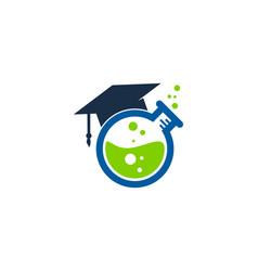 school science lab logo icon design vector image