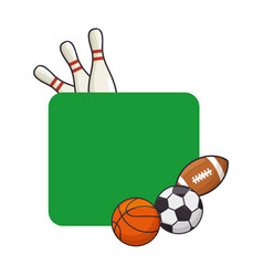 Set of sport games vector