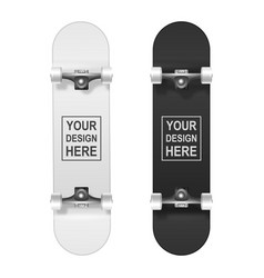skateboarding realistic 3d white and black vector image