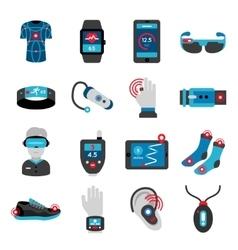 Smart Technology Flat Icons Set vector