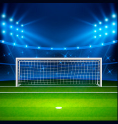 soccer stadium green football field on stadium vector image