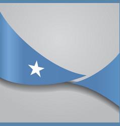 Somalian wavy flag vector