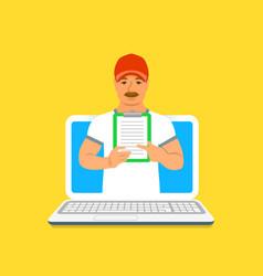 Sport trainer online concept vector