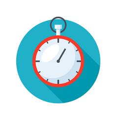 stylish stopwatch icon vector image