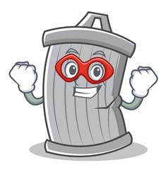 Super hero trash character cartoon style vector