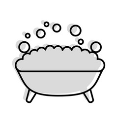 Tub with foam icon vector
