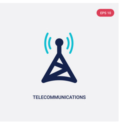 Two color telecommunications icon from computer vector