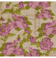 Vintage viola flowers vector