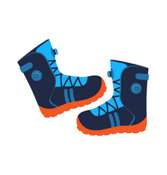 Walking boots isolated icon vector