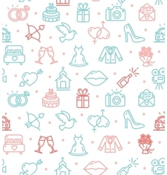 Wedding background pattern vector