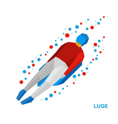 winter sports luge sledging vector image