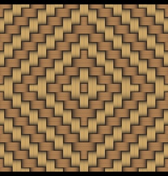 Woven wood pattern 3 vector image