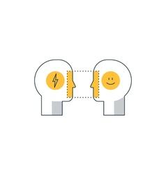Emotional intelligence concept psychology vector image vector image