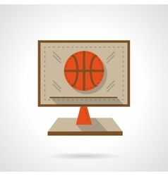 Basketball online flat color design icon vector image