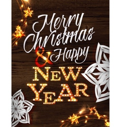 Christmas garland poster vector image