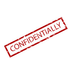 confidentially rubber stamp vector image