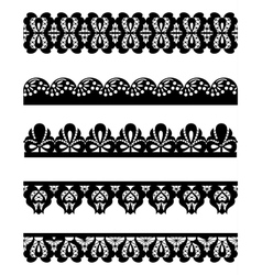 cute collection of lace vector image vector image