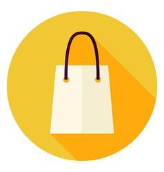 Flat design shopping bag circle icon vector