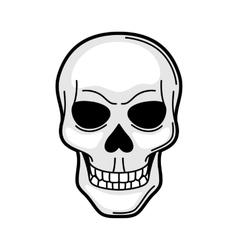 Skull retro tattoo symbol Cartoon old school vector image
