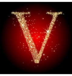 letter star v vector image vector image