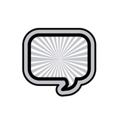 monochrome rounded rectangular speech and black vector image vector image