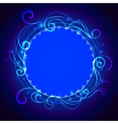 Abstract blue mystic lace background with swirl vector image vector image