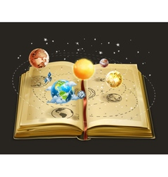 Book on astronomy icon vector image vector image
