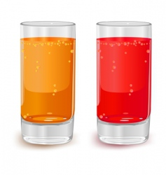 glasses of fruit juice vector image vector image