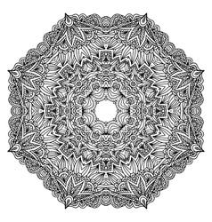 Lacy ornate black napkin vector image vector image