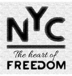 NYC t-shirt design vector image vector image