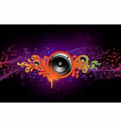 sound splash vector image vector image