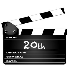 20th year clapperboard vector