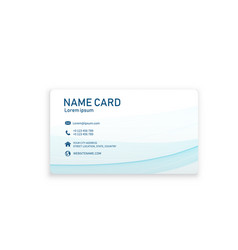 abstract blue wave business name card image vector image