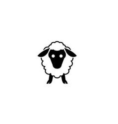 adorable baby sheep head logo vector image