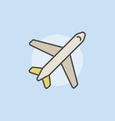 airplane colorful icon vector image