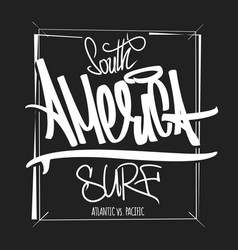 america surfing artwork t-shirt apparel print vector image