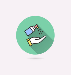 Antiseptic icon for graphic and web design vector