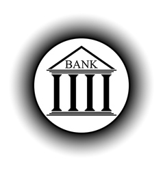 Bank button vector image