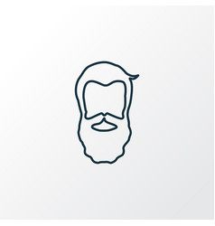 Beard icon line symbol premium quality isolated vector