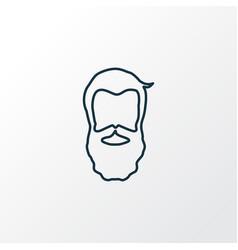 beard icon line symbol premium quality isolated vector image