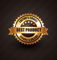 best product golden label badge design vector image